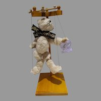 Annette Funicello Marionette Teddy Bear w/Stand and Original Tag