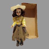 Rare Nancy Ann Dale Evans Doll, All Original w/Box Bottom, 1956