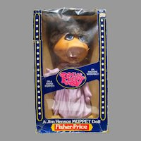 MIB Miss Piggy Hand Puppet, Fisher-Price, 1980, Muppet Doll
