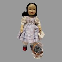 "Madame Alexander 14 1/2"" Cloth Dorothy and Totto Doll,  WIzard of Oz"