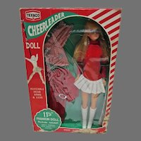 "Vintage 11 1/2"" Fashion Doll Clone, Texaco Cheerleader, 1970 NRFB"