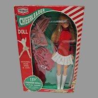 """Vintage 11 1/2"""" Fashion Doll Clone, Texaco Cheerleader, 1970 NRFB"""