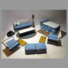 """Vintage Black Wire Watko Furniture Designed for 8"""" Ginger Doll, 1950's"""
