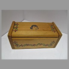 "Vintage Wooden Doll Chest, Cass Company, 1950's for 8"" Doll"
