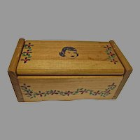 """Vintage Wooden Doll Chest, Cass Company, 1950's for 8"""" Doll"""
