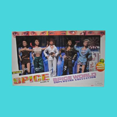 Vintage NRFB Spice GIrls Spice World Superstar Collection Gift Set, 1998,Galoob Toys