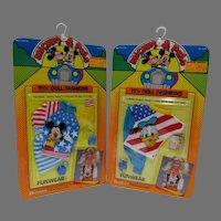 """NRFP Mickey & Pals 11 1/2"""" Doll Fashions, Shillman, 1986"""