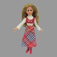 "Vintage 1968 15"" Furga Fashion Doll in Original Outfit"