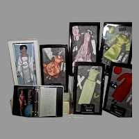Franklin Mint NRFB Jackie Doll w/ 5 Boxed Outfits, 1997