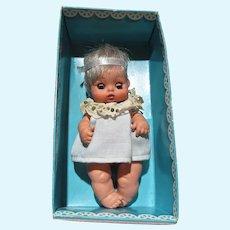 Furga Nini/Nana Baby Doll, 1960's in Original Cardboard Cradle
