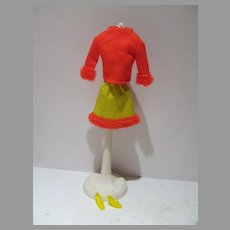 Vintage Mattel Barbie Outfit, Hurray For Leather, 1969