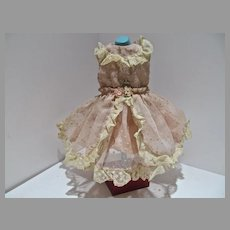 Vintage 1950's Doll Party Dress, Charming!