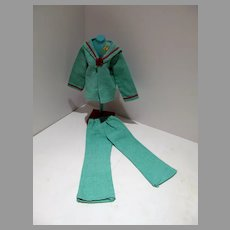 1970's Sailor Style Pant Suit for Doll