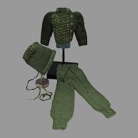 Vintage Mary Hoyer Knitted 3 Piece Winter Outfit, 1950's