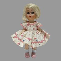 "Charming Cosmopolitan 8"" Ginger Doll w/ Platinum Blond Hair, 1950's"