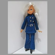 """Italian 14"""" Fashion Doll, 1960s with Platinum Hair and Big Eyes"""