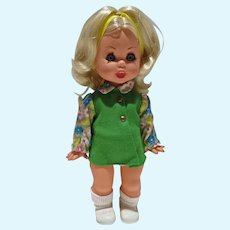 "Vintage Italocremona 12"" Doll, All Original 1970's"