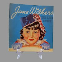 """Vintage Jane Withers """"Her Life Story"""" Photo Book, Whitman, 1936"""