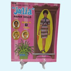 "Mint Un-Used Diahann Carroll as ""Julia"" Paper Dolls, 1971 Artcraft"