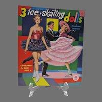 Vintage 1960 Merrill 3 Ice Skating Dolls Paper Dolls, Un_Cut, Mint!