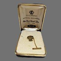 New York World's Fair, Unisphere 12 KT. Gold Filled Tie Pin, MIB