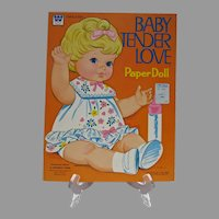 Mint Un-Cut, Whitman Baby Tender Love Paper Dolls, 1971