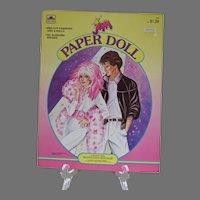 Vintage Un-cut Jem Paper Dolls, 1986, Golden