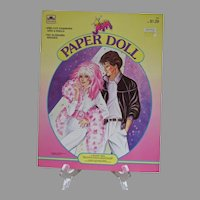 Vintage Un-cut Jem Paper Dolls, 1986, Golden