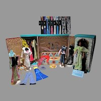 "Mego 12"" Cher and Dressing Room with Outfits and Accessories"