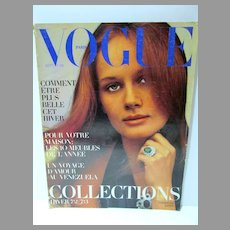 Paris Vogue Sept. 1972, Helmut Newton, YSL, Ungaro, Dior & More
