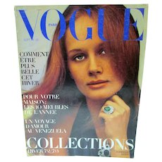 Paris Vogue Sept. 1972, Helmut Newton, YSL, Ungaro, Dior & More
