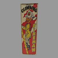 VIntage Marx Climbing Fireman Tin Wind-Up Box Only, Rare, 1940's