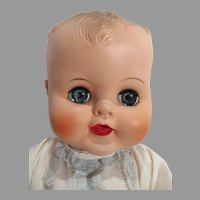 Vintage Large Vinyl Baby Doll, Adorable, 1960's
