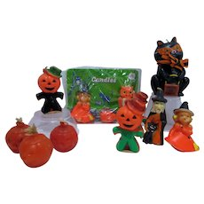 Collection of Vintage Halloween Candles, Gurley, 1960's