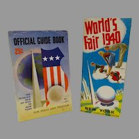 Official Guide Book and Fold Out Ad for the New York World's Fair of 1940