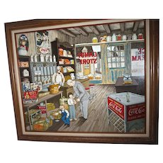 """H. Hargrove, Painting, """"The Candy Store"""" signed and numbered"""