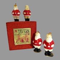 MIB Tavern Novelty Candles, Santa Clauses, 1940's