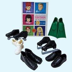 VINtage Mattel Ken Pak Shoes For Sports, 1964, Complete