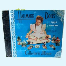 1948 Hallmark Dolls of the Nations Album, Complete w/16 Cards