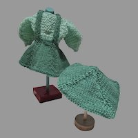Vitnage 3 Piece Mary Hoyer Knitted Outfit, 1940's