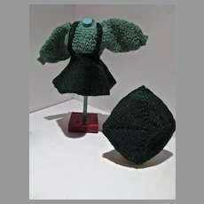Vintage Mary Hoyer 3 piece Knitted Skating Outfit, 1940's