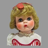 Charming 1950's Rubber Little Girl Doll