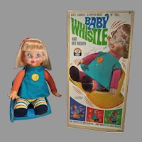 Remco Baby Whistle & Her Rocker w/Box and Accessories, 1969, Rare!