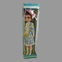 MIB Modern Miss Big Eyed Doll, 1960's