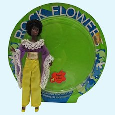 Mint Mattel Rock Flower Rosemary Doll in Topped In Lace, 1971
