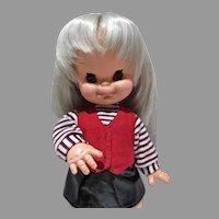 "Rare 15"" Mariannina Big Eye Doll by Furga, All Original, 1960's"