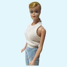 Beautiful Mattel Blond Swirl Ponytail, Full Dark Pink Lips, 1964