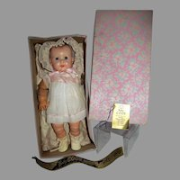 "1948 Ideal 14"" Baby Coos Doll with Box, ""As Is"""