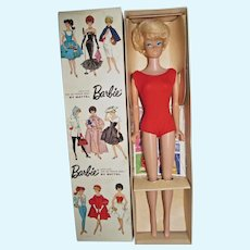 MIB Platinum Side Part Bubble Cut Barbie, 1965, Mattel