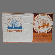 Rare NRFB 1964 NY World's Fair Napkin & Coaster Set
